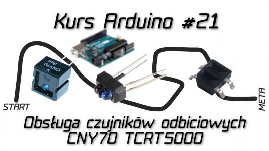 Kurs Arduino #21: Obsługa czujnika odbiciowego CNY70 / TCRT5000